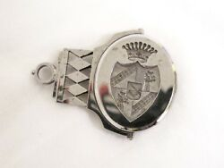 Antique Polished Cut Steel Seal On A Swivel Coat Of Arms For Duke /baron C1790