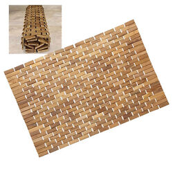 Solid Premium Teak Wood Hand-woven Rug Wet Or Dry Area Grade-a