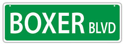 Plastic Street Signs: BOXER BLVD Dogs Gifts Decorations