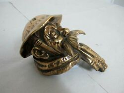 Car Mascot Of Old Bill Signed By Bruce Bairnsfather Gilded Bronze C1930and039s