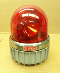 Federal Signal Corp. 371l-120r 120vac Commander Series A3 Red Rotating Light