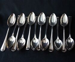 Cooper Bros And Sons Queen Anne Silverplate 12 Lg Fruit Spoons