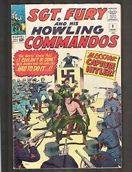Sgt Fury And His Howling Commandos 9 Hitler Cvr 1964 6.0 Wh