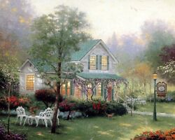 Thomas Kinkade; Village Inn; 16x20; PP 3/100; Limited Edition