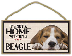 Wood Sign: It#x27;s Not A Home Without A BEAGLE Dogs Gifts Decorations