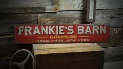 Custom Barn City State Sign - Rustic Hand Made Vintage Wooden Sign