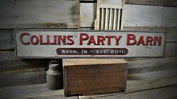 Custom Party Barn Sign - Primitive Rustic Hand Made Vintage Wood Sign