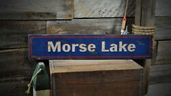 Personalized Lake House Sign - Rustic Hand Made Vintage Wooden Sign