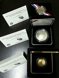 2014 Baseball Hall of Fame 6 Coins Set(2-$5 Gold 2- $1 Silver