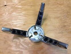 1967 67 Ford Mustang Gt Chrome Steering Wheel Trim Used Oem C7za-13a800