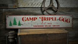 Custom Lodge Or Campgrounds Sign - Rustic Hand Made Vintage Wood Sign