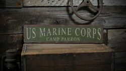 Custom Marine Corps Camp Sign - Rustic Hand Made Vintage Wooden
