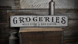 Custom Store And Gas Station Sign - Rustic Hand Made Vintage Wooden
