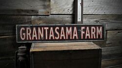 Custom Distressed Farm Name Sign - Rustic Hand Made Vintage Wooden