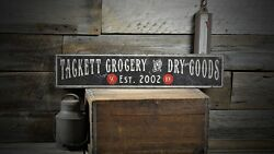 Custom Grocery And Dry Goods Sign - Rustic Hand Made Vintage Wooden