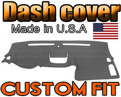 Fits 2015 -2021 Chevrolet Colorado Dash Cover Mat Dashboard Pad / Charcoal Grey