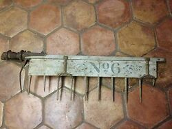 Antique 1890's Horse Drawn Deering Tractor Spike Tooth Harrow Harvest Tool