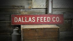 Custom Feed Company Farm Sign - Rustic Hand Made Vintage Wooden