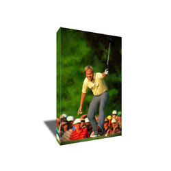 Golf Icon JACK NICKLAUS Masters Poster Photo Painting on CANVAS Wall ART print