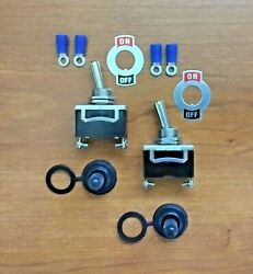 2 Bbt Brand On/off 12 Volt 20 Amp Toggle Switches With Screw Terminals And Boots