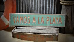 Custom Beach House Name Sign - Rustic Hand Made Vintage Wooden