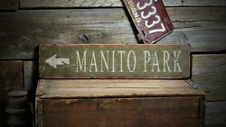 Custom Park Directional Arrow Sign - Rustic Hand Made Vintage Wooden