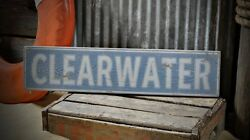 Custom Beach Or Coastal Town Sign - Rustic Hand Made Vintage Wooden