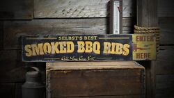 Custom Family Smoked Bbq Sign - Rustic Hand Made Vintage Wooden