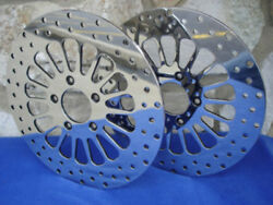 Dna 1984-up Harley Xl Sportster 11.5 Front And Rear Brake Rotors Free Bolts
