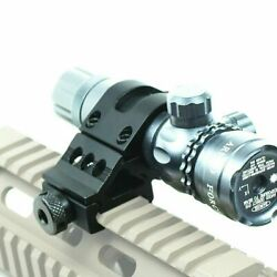 1 Offset Scope Ring With 20mm Rail Mount For Scopes / Laser / Flashlight