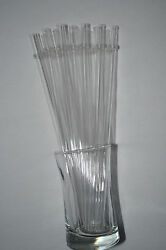 Clear Reusable Straws W/ring Acrylic 9 Straws Bpa Free + Cleaning Brush