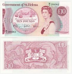 St. Helena Andpound10 Banknote 1985 P.8b - Unc.