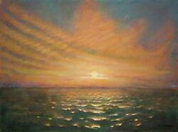 And039sunset At Seaand039 | Original Work | Scenic Painting | 30andrdquox 40andrdquo