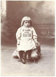 Advertising Cabinet Photo Of Young Girl My Mamma Uses Atlas Flour  C1890s