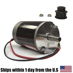 Poly Caster New Style Motor W/ Tooth Cogged Pulley For Fisher Snow Plow