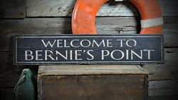 Custom Welcome To Place / Home Sign -rustic Hand Made Vintage Wooden