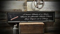 Mark Twain One Cigar At A Time Sign - Rustic Hand Made Vintage Wooden