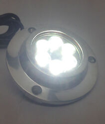 Pactrade Marine Boat Blue Led Ss 316 Underwater Light Surface Mount 18 W 10-30 V