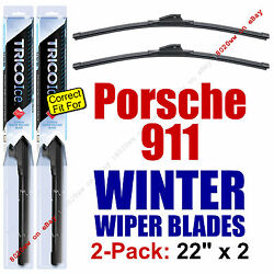 Winter Wiper Blades 3-pack Front And Rear - Fit 1999-2012 Porsche 911 - 35220x3