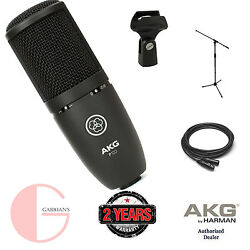 AKG P120 Project Studios with XLR Cable and & Mic. Stand. U.S Authorized Dealer