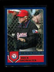 2002 Topps T118 Buck Showalter Authentic On Card Autograph Signature Au4748