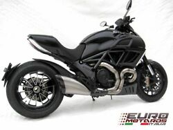 Ducati Diavel 2011-2016 Zard Exhaust Full System With Carbon Cap Silencer