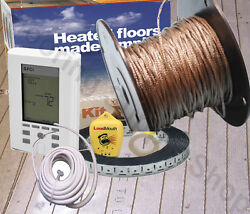 Suntouch Radiant Floor Heating Cable / Spool 120 V Made In The Usa Complete Kit