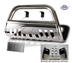 2004-2008 Ford F150 4wd Chrome Guard Push Bull Bar In Stainless Steel Bumper