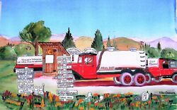 Septic Truck Personalized Art Print Outhouse Bathroom Company Humor Crap Gift 2