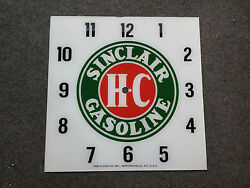 New 15 Sinclair Hc Gasoline Gas Oil Glass Replacement Clock Face For Pam