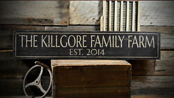 Custom Family Farm Est Date Sign - Rustic Hand Made Vintage Wooden