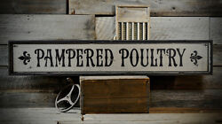 Custom Chicken Farm Poultry Sign - Rustic Hand Made Distressed Wooden