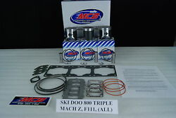 Ski Doo Mach Z 780 Triple Piston Kit Complete With Instructions/specifications