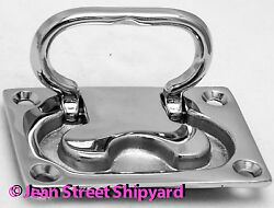 Boat Flush Lifting Deck Hatch Cover Handle Pull Chrome Plated Marine Brass 36741